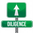 Stock Photo: Diligence road sign illustration design