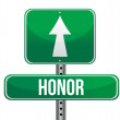 Honor road sign illustration design — Stock Photo