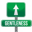 Gentleness road sign illustration design - Stock Photo