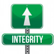 Integrity road sign illustration design - Stock Photo