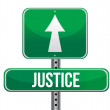 Justice road sign illustration design - Stock Photo