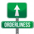 Orderliness road sign illustration design - Stock Photo