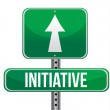 Initiative road sign illustration design - Stock Photo