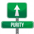 Purity road sign illustration design — Stock Photo