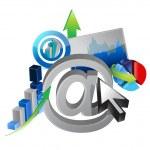 Online business success illustration design — Stock Photo #24488335