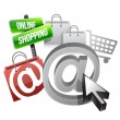 Stock Photo: Online shopping illustration concept