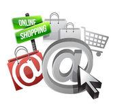 Online shopping illustration concept — Stock Photo