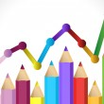 grafico di affari che illustrano la crescita — Foto Stock