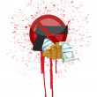 Royalty-Free Stock Photo: Money and blood gun illustration design