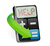 Calculator displays the word Help illustration — Stock Photo
