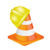 Helmet for builder worker illustration — Stock Photo