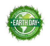 Grass earth day written inside the stamp — Stock Photo