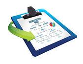 Clipboard Hand written Business success model — Stock Photo