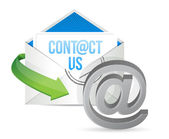 Contact us E mail icon illustration design — Stock Photo