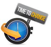 время для изменения концепции иллюстрации дизайн — Стоковое фото