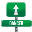Dancer road sign illustration design — Stock Photo