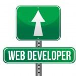 Web developer road sign illustration design — Stock Photo #24706073