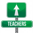 Stock Photo: Teachers road sign illustration design