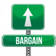 Stock Photo: Bargain road sign illustration design