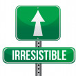 Irresistible road sign illustration design — Stock Photo