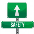 Stock Photo: Safety road sign illustration design