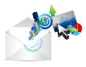 E-mail aziendale grafico impostato illustrazione — Foto Stock