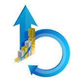 бизнес-цикла иллюстрации дизайн — Стоковое фото