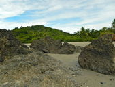 пляж, песок и рок образований — Стоковое фото