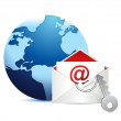 E-mail concept on white background — Stock Photo