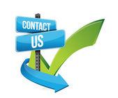 Contacte con nosotros en signo y verificación — Foto de Stock