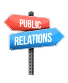Marketing concept: Public Relations road sign — Stock Photo