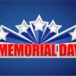 Memorial day sign on blue — Stock Photo #25544043