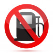 No gasoline. no fuel pump sign — Stock Photo