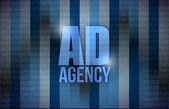 Ad agency binary background design — Stock Photo