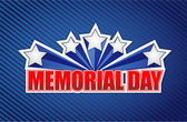 Memorial day sign on a blue — Stock Photo