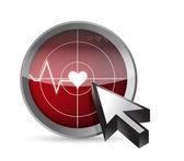 ECG tracing radar illustration design — Stock Photo