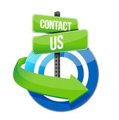 Contact us target road sign illustration — Stock Photo