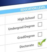 Doctorate education level survey — Stock Photo