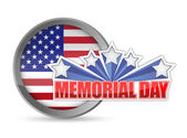 Memorial day red white and blue seal — Stock Photo