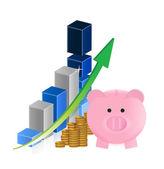 Business savings improve — Stock Photo