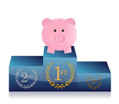 Leader in savings concept — Stock Photo