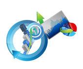 Ciclo de conceitos gráficos de negócios — Foto Stock