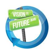 Visión y futuro camino firme ciclo — Foto de Stock