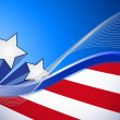 Stock Photo: Us patriotic red white and blue illustration
