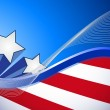 Us patriotic red white and blue illustration — Stockfoto