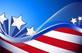 Us patriotic red white and blue illustration — Stock Photo