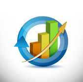 Colorful Business arrow cycle graph — Stock Photo