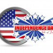 Fourth of july, independence day seal — Stock Photo #26110593
