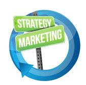 Strategy and marketing illustration design — Stock Photo