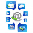 Stock Photo: Web application icons illustration design